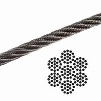 "1/8"" 7x19 Galvanized Aircraft Cable , Airplane Cable Breaking Strength 2000 lb Manufactures"
