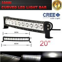 Single Row 20-Inch 9000lm 100W  Curved Cree LED Offroad Light Bar 4WD Boat UTE Driving ATV Manufactures