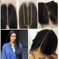 8 Inch Real Indian Human Hair Weave For Beauty / Kim K Closure Hair Extensions Manufactures