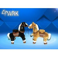 Unicorn Ride On Pony Horse Toy For Kids / Modern Amusement Park Rides Manufactures