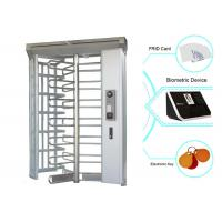 Automatic Stainless Steel Luxury Full Height Turnstiles Gates For Parking Facilities Manufactures