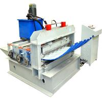 Double - Deck Hydraulic Curving Crimping Equipment For Metal PPGI Roof Panel 1mm Manufactures