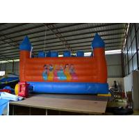 6*4*3.5m Inflatable Sports Games Blue And Orange Disney Inflatable Trampoline To The Children Manufactures