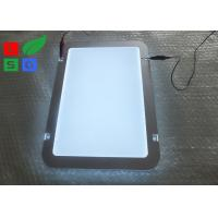 Quality Round Corner LED Light Box Display , Magnetic Photo Light Box With Wire Hanging System for sale