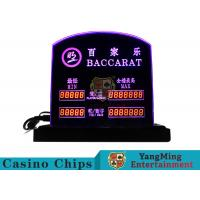 Baccarat Table Games Dedicated LED Electronic Table Limit Sign Casino Poker Table Bet Limit Customized Logo Manufactures