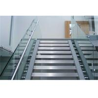 Balcony Frameless Glass Deck Railing Systems Stainless Steel Standoff 850-1200mm Height Manufactures