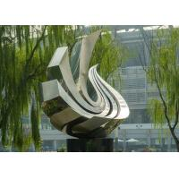 Buy cheap Large Polished Stainless Steel Sculpture , Outdoor Metal Sculpture For Garden from wholesalers