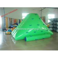 Green Small Inflatable Iceberg Water Toy , Kids Inflatable Water Mountain On Water Manufactures