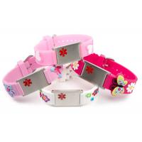 Embossed Silicone Medical ID Wristband , Children's Medical ID Bracelets With Alloy Plate Manufactures