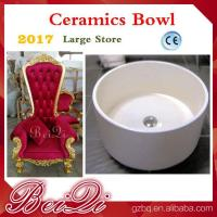 Wholesale Cheap Pedicure Throne Chair Ceramics Pedicure Bowl , Spa Pedicure Sinks Shower Parts Manufactures