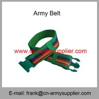 China Wholesale Cheap China Military PP  Kenya Army Plastic Buckle Police Belt on sale