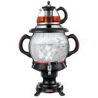 Durable Room Service Equipments Tradition Glass Samovar W / 4.5 LTR Electric Water Kettle with 1 LTR Teapot Manufactures