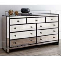 Quality Modern Mirrored Sideboard Table , 9 Drawers Antique Mirrored Sideboard for sale