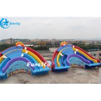 11x6x6m Inflatable Rainbow Slide for Water Park Equipment Use Manufactures