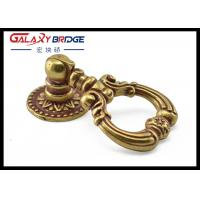 Quality Golden Luxury  Kitchen Cabinet Ring Pulls , 64mm / 70mm European Ring Drawer Handles for sale