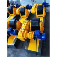 Conventional Turning Roll Tank Welding Rotators PU 40000kgs Driving Inverter Manufactures