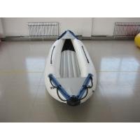 Quality White PVC Fabric One Person Raft Inflatable Fishing Kayak With Aluminum Seat for sale