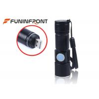 CREE XPE USB Rechargeable LED Flashlight, Adjustable Focus Zoom LED Torch Manufactures