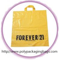 CPE / LDPE / HDPE Soft Loop Handle Bag , Custom Plastic Shopping Bags Manufactures