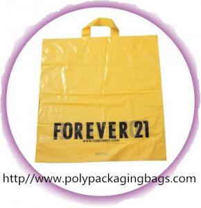CPE / LDPE / HDPE Soft Loop Handle Bag , Custom Plastic Shopping Bags Manufactures