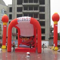 Oxford fabric Inflatable Advertising Products , Inflatable Arch Tent For Exhibition Booth With Printed Logo Manufactures