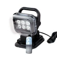 Powerful 12 Volt DC 30W Marine Led Searchlight Black with Aluminum Housing Manufactures