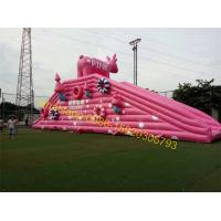 pink pig slide inflatable Manufactures