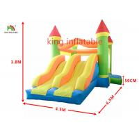 Rockey Castle Inflatable Jumping House With Two Slide Backyard For Toddler Manufactures