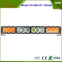 "Single row 21.9"" 120w white/amber led light bar 10w per CREE LED for offroad accessory Manufactures"