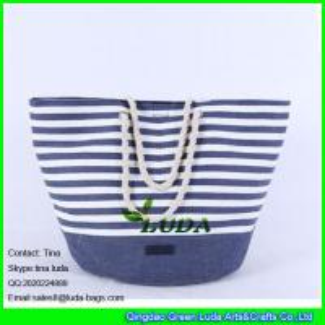 China LUDA 2015 promotional fashion paper cloth straw bag on sale