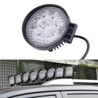 27W Round Vehicle LED Work Lights DC 9-30V 1620 Lm Lumens , Stainless Steel Bracket Manufactures