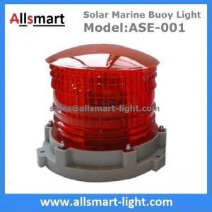 Quality Solar Marine Lights 3-5km 2-3NM Visibility ASE-001 Solar Warning Aviation Light Solar Beacon Light Solar Floating Signs for sale
