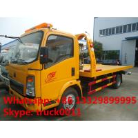 China wrecker vehicle plarform road wrecker 4ton Sino wrecker truck, car towing service truck vehicle recovery wrecker Manufactures