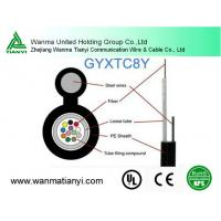 Self-support aerial GYXTC8Y Outdoor Loose Tube fiber optical Cable Manufactures