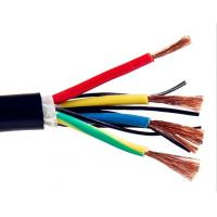 Multicore Screened Control Drag Chain Cable , Stranded Copper Wire High Stability Manufactures