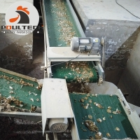 chicken droppings drying machine for poultry farm