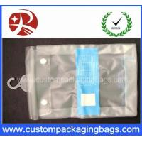 Buy cheap Button Closure Hanger Plastic PVC Hook Bags With for Clothes Swimwear Bikini Packaging from wholesalers