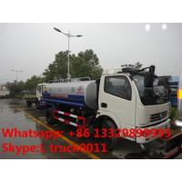 DFAC DLK 6-7 ton water sprinkler truck exported to Congo, factpry sale best price stainless steel water tank truck Manufactures