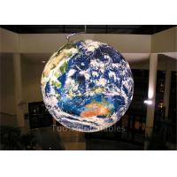Quality Multifunction Globe Round Earth Balloon / Customized Design World Helium Ball for sale