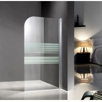 Professional Glass Shower Enclosures , bathtub screen with serigraphy painted Manufactures