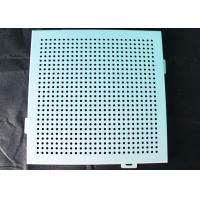 China Noiseproof Acoustic Perforated Metal Ceiling Panels / Round Hole Punched Tiles 2 x 2 on sale