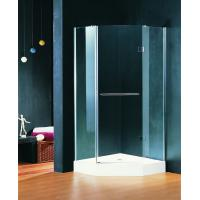 900 X 900 Shower Cubicle Pivot Style Hinged Shower Enclosures With Towel Rack Manufactures