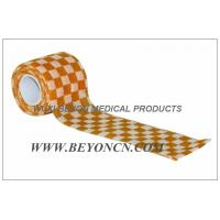 Cohesive Elastic Bandage Self - Adhesive Wrap Orange Check  Custom Printed Manufactures