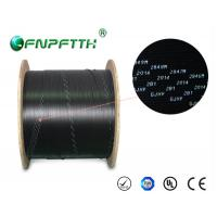 3 Steel Wires FTTH Fiber Optic Cable Outdoor , Black fiber optic network cable Manufactures