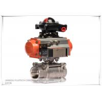 Single Acting Ball Valve Pneumatic Actuator With Limit Switch Manufactures