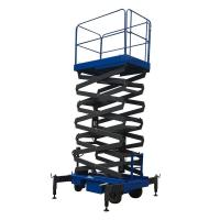 Quality 8m Working Height Manganese Steel Mobile Scissor Lift Electrical Pulling Loading for sale
