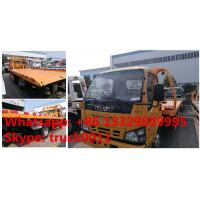 Quality 2017S new Isuzu 4*2 LHD 600P 120hp diesel Road wrecker tow truck for sale, best for sale
