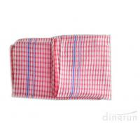 China Personalized Plaid Woven Kitchen Tea Towels With Terry Loop Different Color on sale