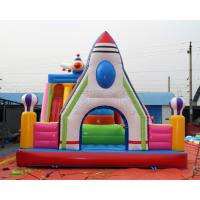 Quality Kids mobile car design inflatable bouncer fun city amusement park for sale