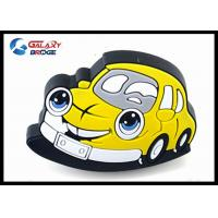 Taxi Car Rubber Kids Furniture Knobs / SiliconYellow Dresser Knobs Manufactures